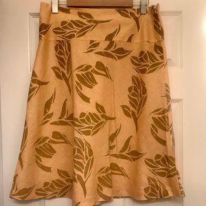 H&M Floral Linen Skirt
